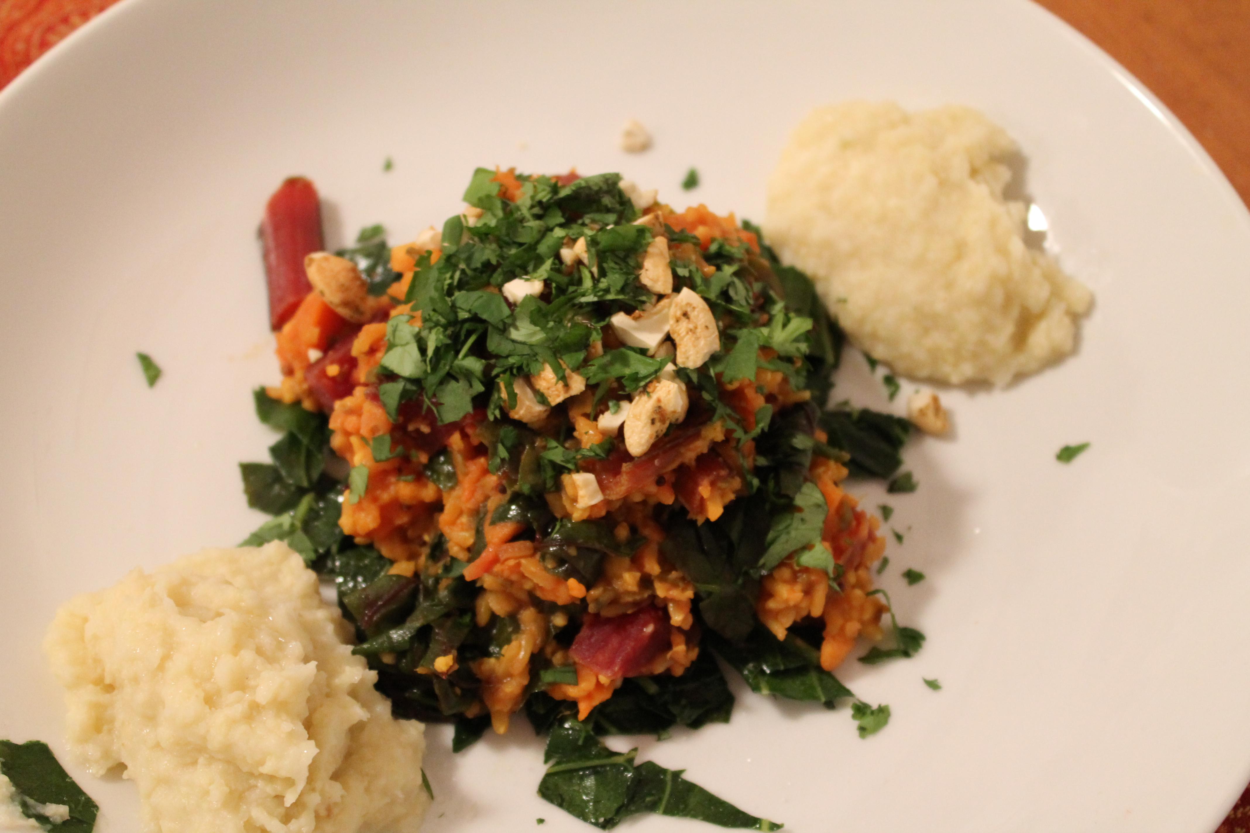 kichari and millet mash