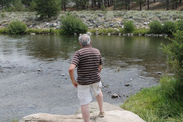 Dad on the River