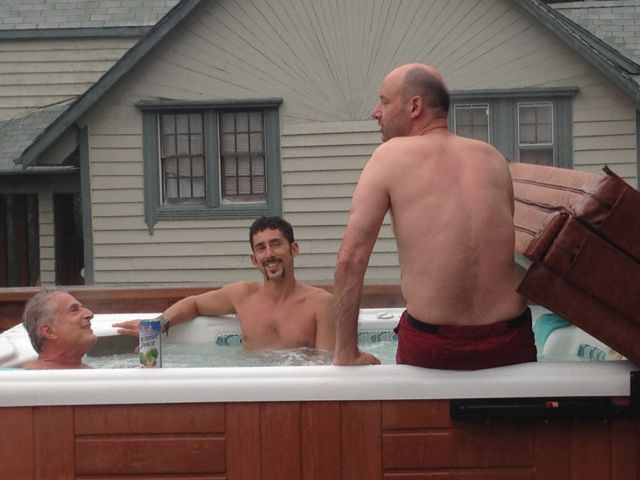 Men in Hot Tub