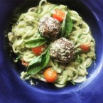 Lately, and Zucchini Noodles with Avocado Cream